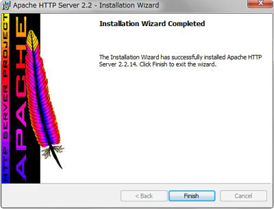 Installation Wizard Completed (インストール完了)